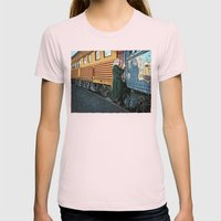 A Departure Womens Fitted Tee Light Pink SMALL