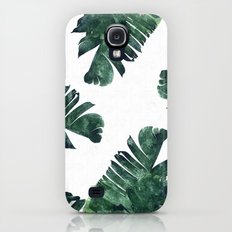 Banana Leaf Watercolor Pattern #society6 Galaxy S4 Slim Case