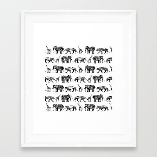 graphic zoo Framed Art Print