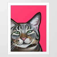 Whiskers The Tabby Cat Art Print