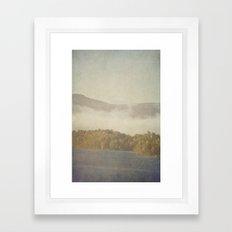 Fog and Color Framed Art Print