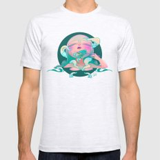 Horror fish Mens Fitted Tee Ash Grey SMALL