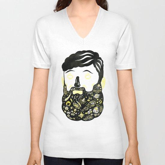 Space Beard Guy V-neck T-shirt