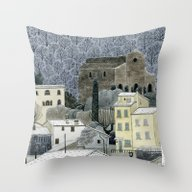 Winter Town Throw Pillow