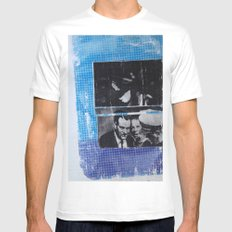 OSWALD/HALF TONE SMALL White Mens Fitted Tee