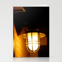 Yellow Streetlight Stationery Cards