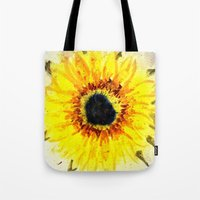Sunflower from Water Tote Bag