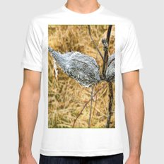 Milk Weed Pods White Mens Fitted Tee SMALL