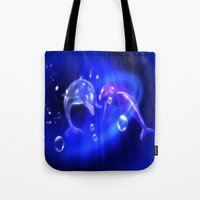 Delphine - Dolphins Tote Bag