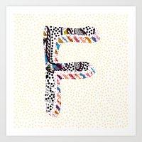 F (Coffee Series) Art Print