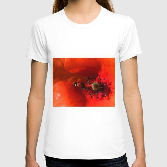 Ladybug Poppy Photography T-shirt
