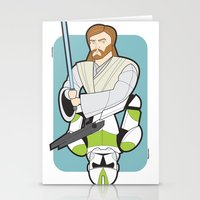 Obi-wan and Clone Trooper Stationery Cards