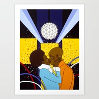 New York Kiss Art Print