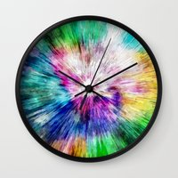 Colorful Tie Dye Abstract Wall Clock