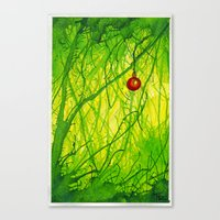 Green Christmas Canvas Print
