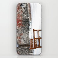Winter Bench And Crabapp… iPhone & iPod Skin