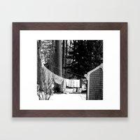 On the Line  Framed Art Print