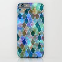 mermaid iPhone & iPod Cases featuring Mermaid by Schatzi Brown