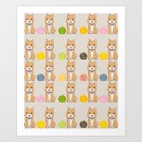 Halloween Dogs Art Print