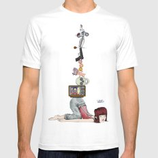 What? Part Deux SMALL Mens Fitted Tee White
