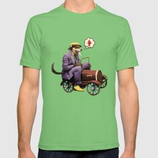 Barkin' Down the Highway! Mens Fitted Tee Grass SMALL