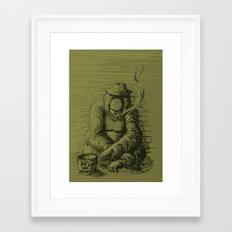 Help the homeless Framed Art Print
