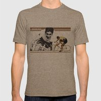 cycling legend Eddy 'The Cannibal' Merckx Mens Fitted Tee Tri-Coffee SMALL