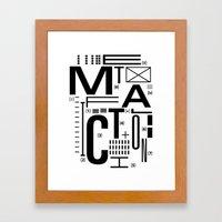 METAL FICTION Framed Art Print
