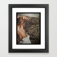 SHE IS LOST. Framed Art Print