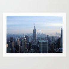 New York City in Outline Art Print