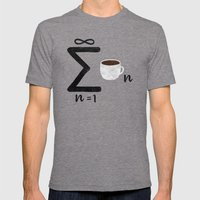 Infinite Coffee Mens Fitted Tee Tri-Grey SMALL