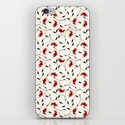 Strange Red Flowers Pattern iPhone & iPod Skin