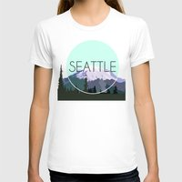 seattle T-shirts featuring SEATTLE by Lauren Jane Peterson