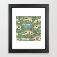 Travelling Through Jurassic Framed Art Print