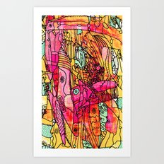 Snaggled Art Print