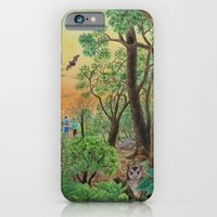 iPhone & iPod Case featuring A Day of Forest (9). (the forest at night) by Amy Fan