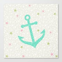 Starfish Anchors - Pearl Canvas Print