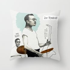 ANALOG zine - Vocalese Sax Solo Throw Pillow