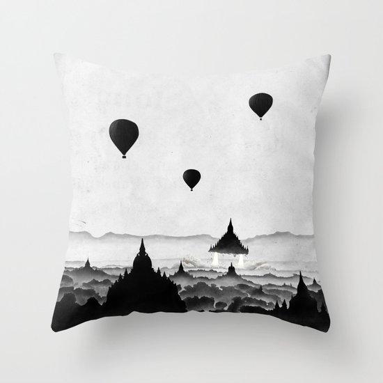 Aurora (On Paper) Throw Pillow