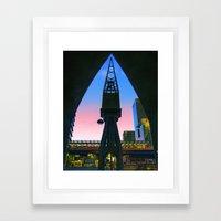 Crane Docklands London Framed Art Print