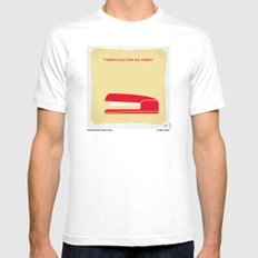 No255 My OFFICE SPACE minimal movie poster SMALL White Mens Fitted Tee