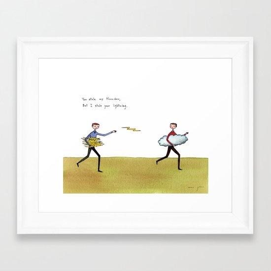 you stole my thunder Framed Art Print