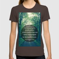 Places In Nature Womens Fitted Tee Brown SMALL