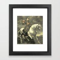 Charles V on his Horse Framed Art Print
