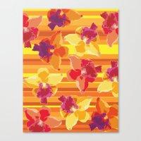 Fluor Flora - Arancio Canvas Print