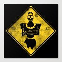 Dragon's Lair Warning Sign Canvas Print