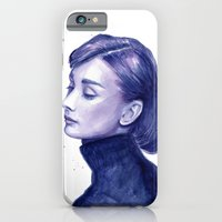 Audrey Hepburn Watercolor Portrait iPhone 6 Slim Case