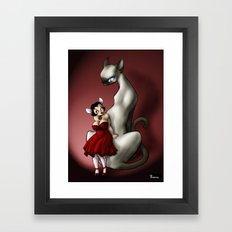 Au chat et à la souris Framed Art Print