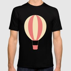 #84 Hot Air Balloon Mens Fitted Tee Black SMALL