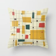 Mid-Century Modern Throw Pillow